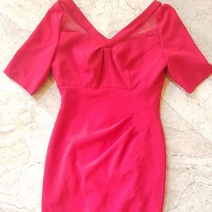 Adrianna Papell size 6 red wiggle dress